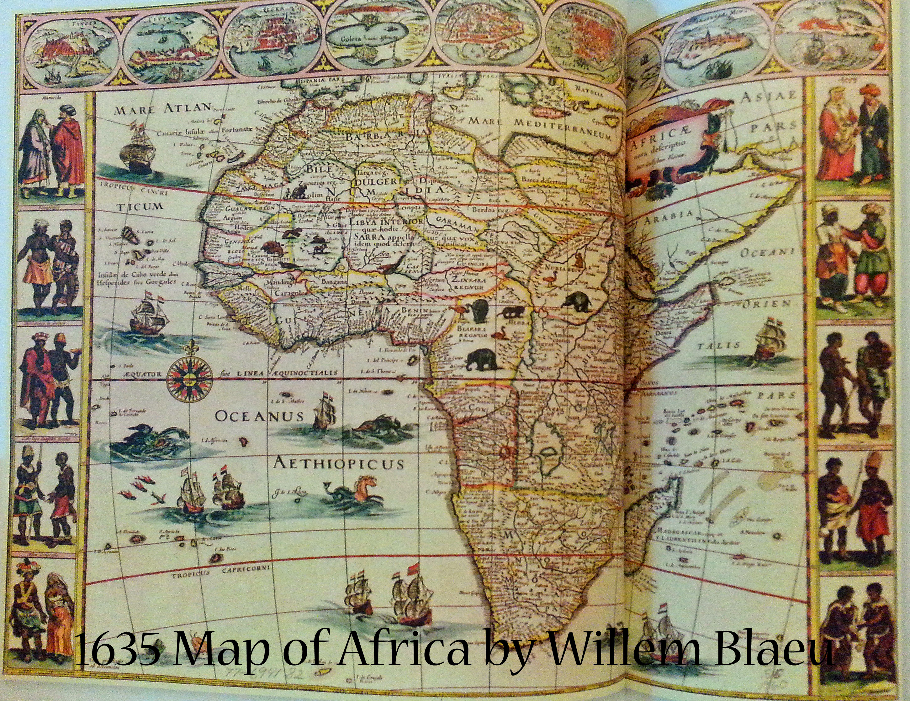 1635 Map of Africa by Willem Blaeu | Book Addicts