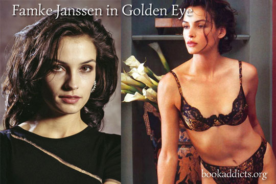 Famke Janssen in 1995 Golden Eye was considered the ideal woman   Book Addicts