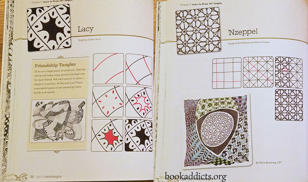 Joy of Zentangle by Suzanne McNeill et al review | Book Addicts