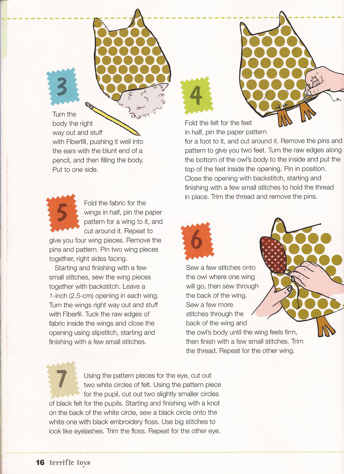 My First Sewing Book Owl Project | BookAddicts.org