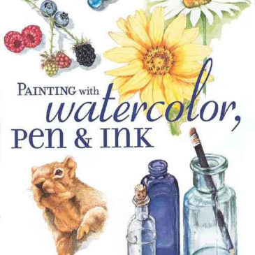 Painting with Watercolor Ink and Pen by Claudia Nice