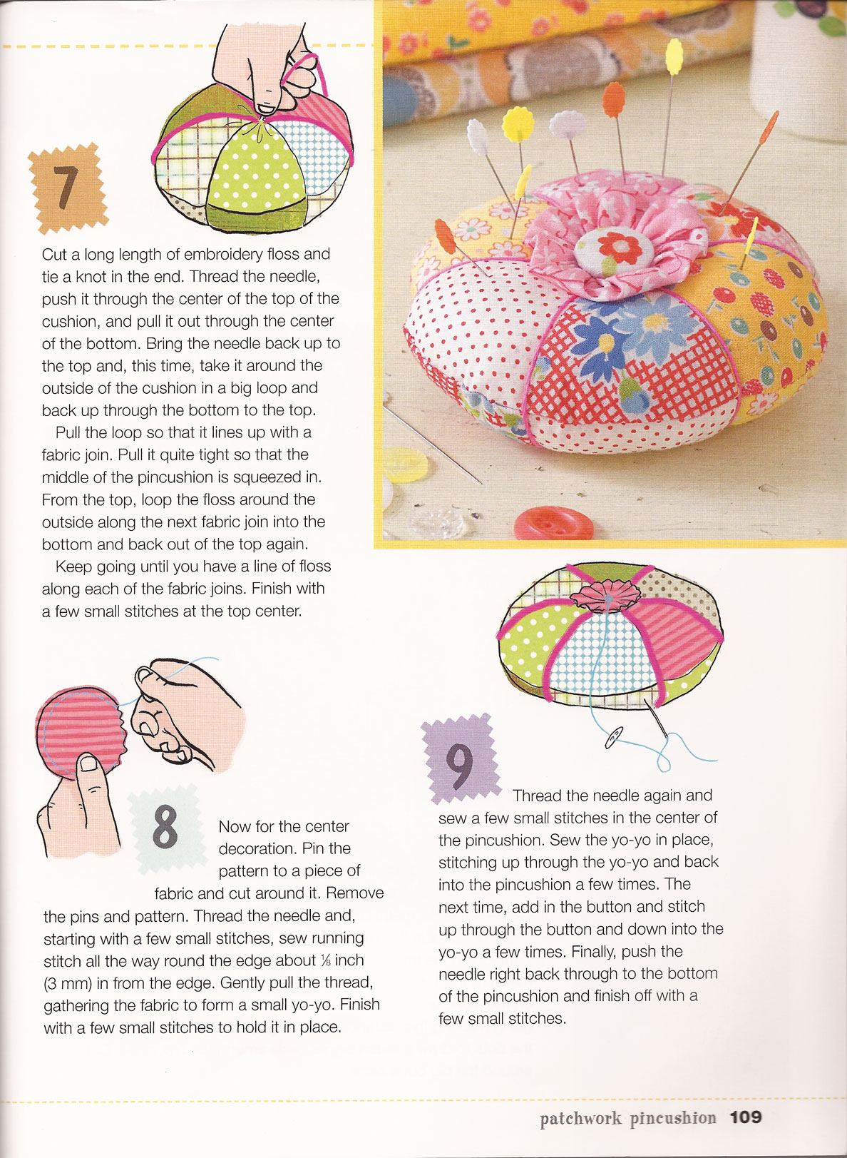 My First Sewing Book Pincushion Project | BookAddicts.org