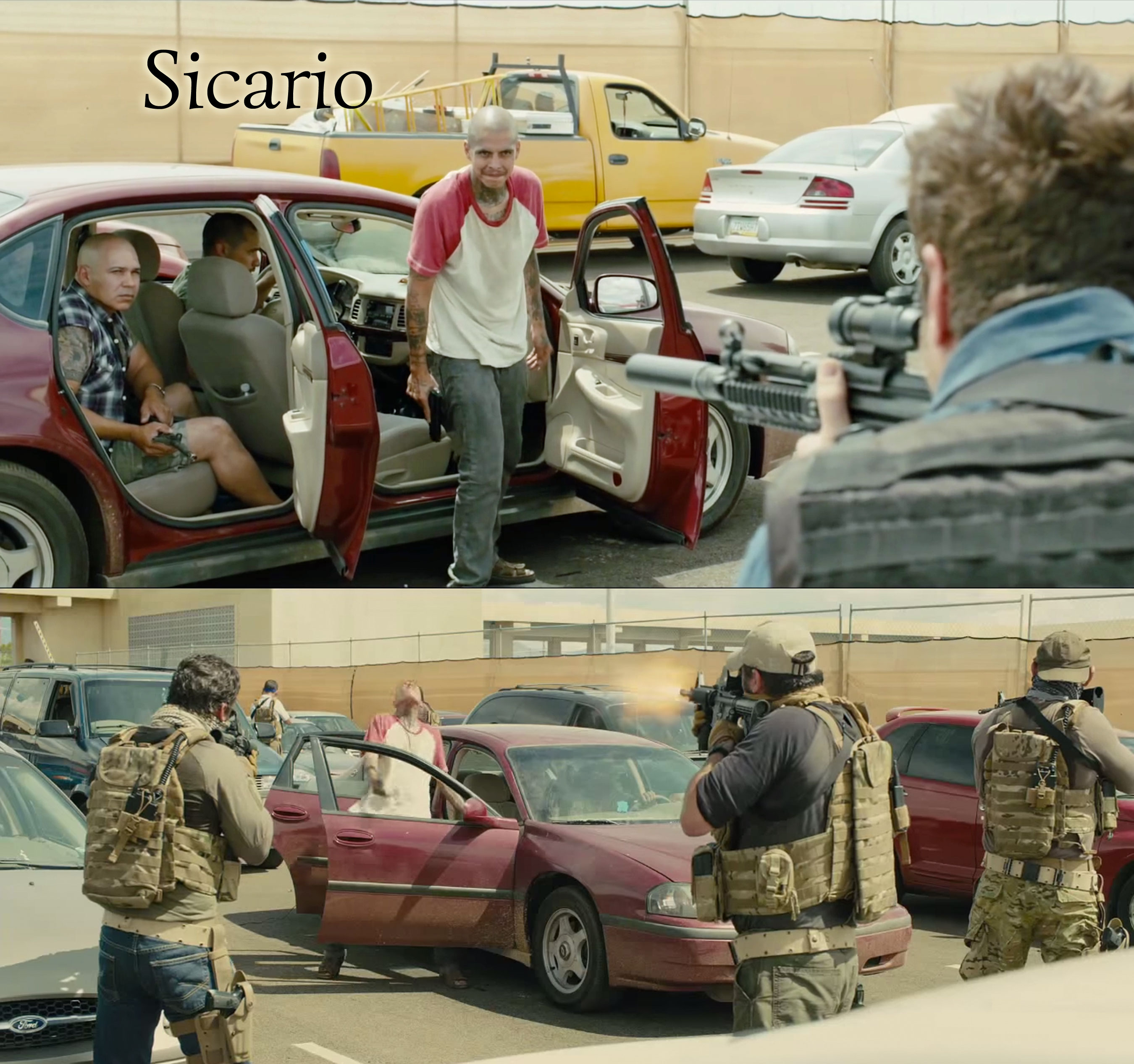 Sicario 2015 film Border Crossing Shootout | Book Addicts