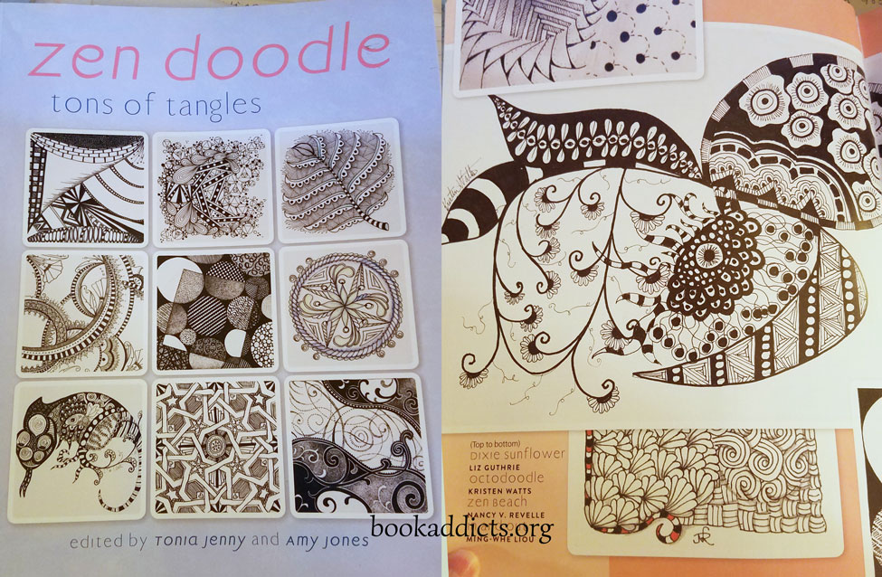 Zen Doodle Tons of Tangles by Tonia Jenny and Amy Jones review | Book Addicts