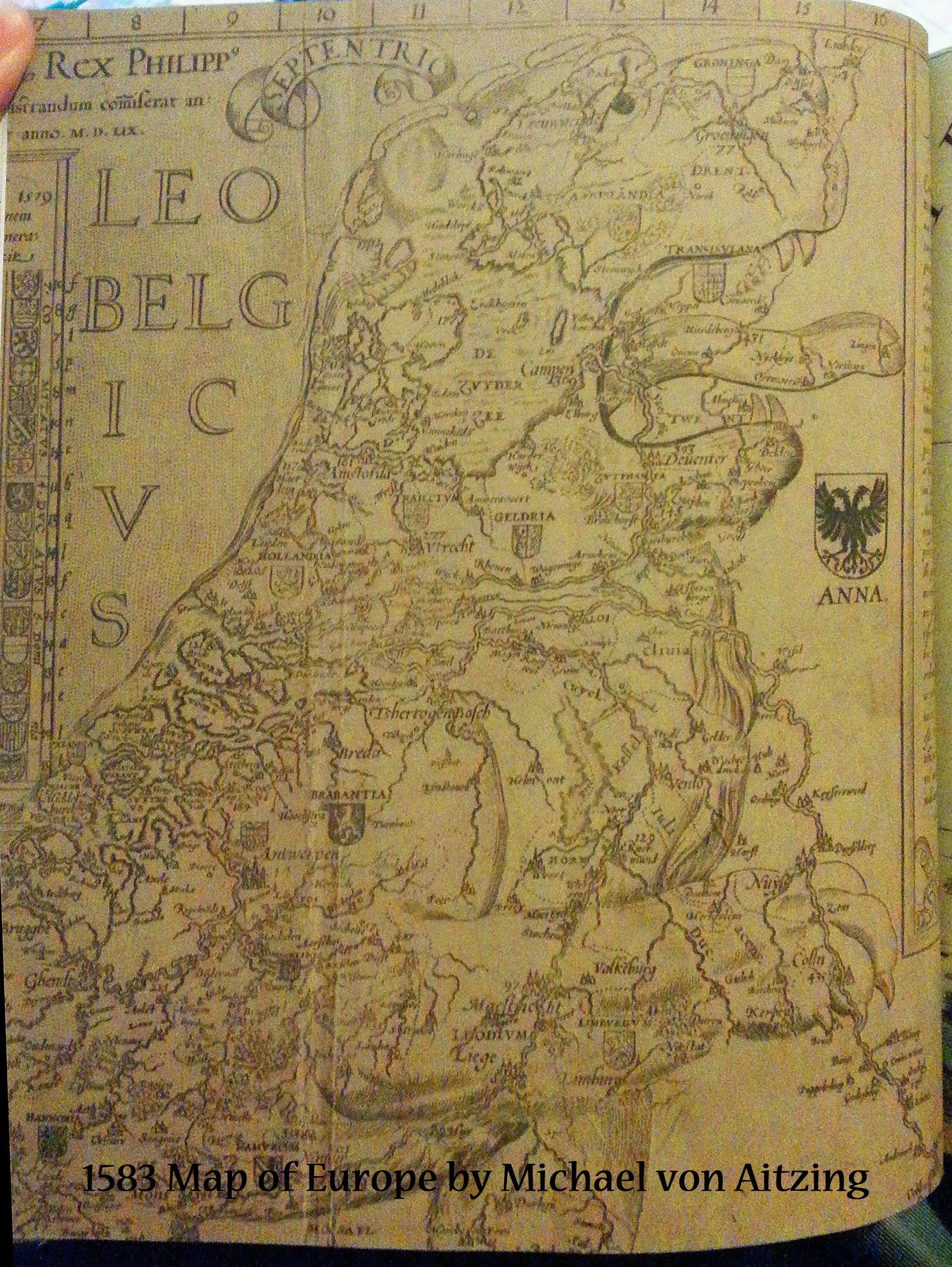 1583 Map of Europe by Michael von Aitzing | Book Addicts