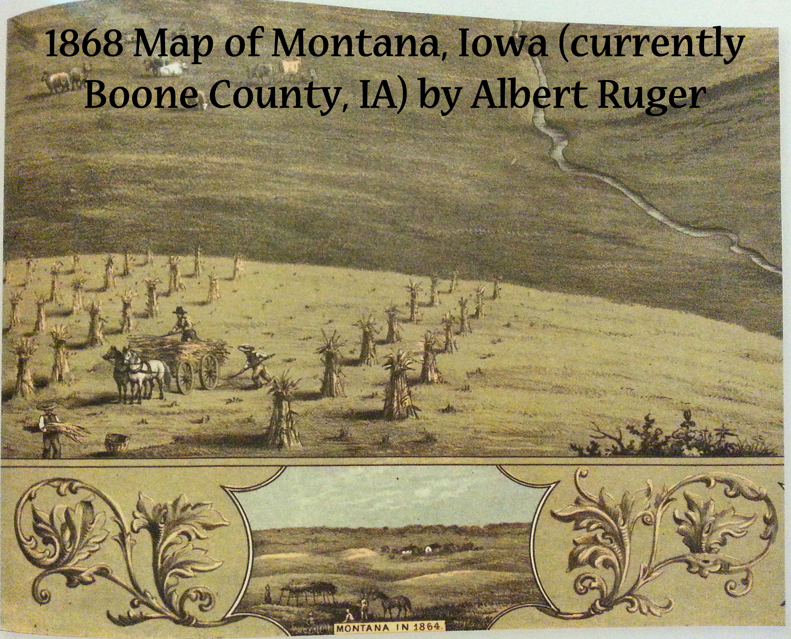 1858 Map of Iowa by Albert Ruger | Book Addicts